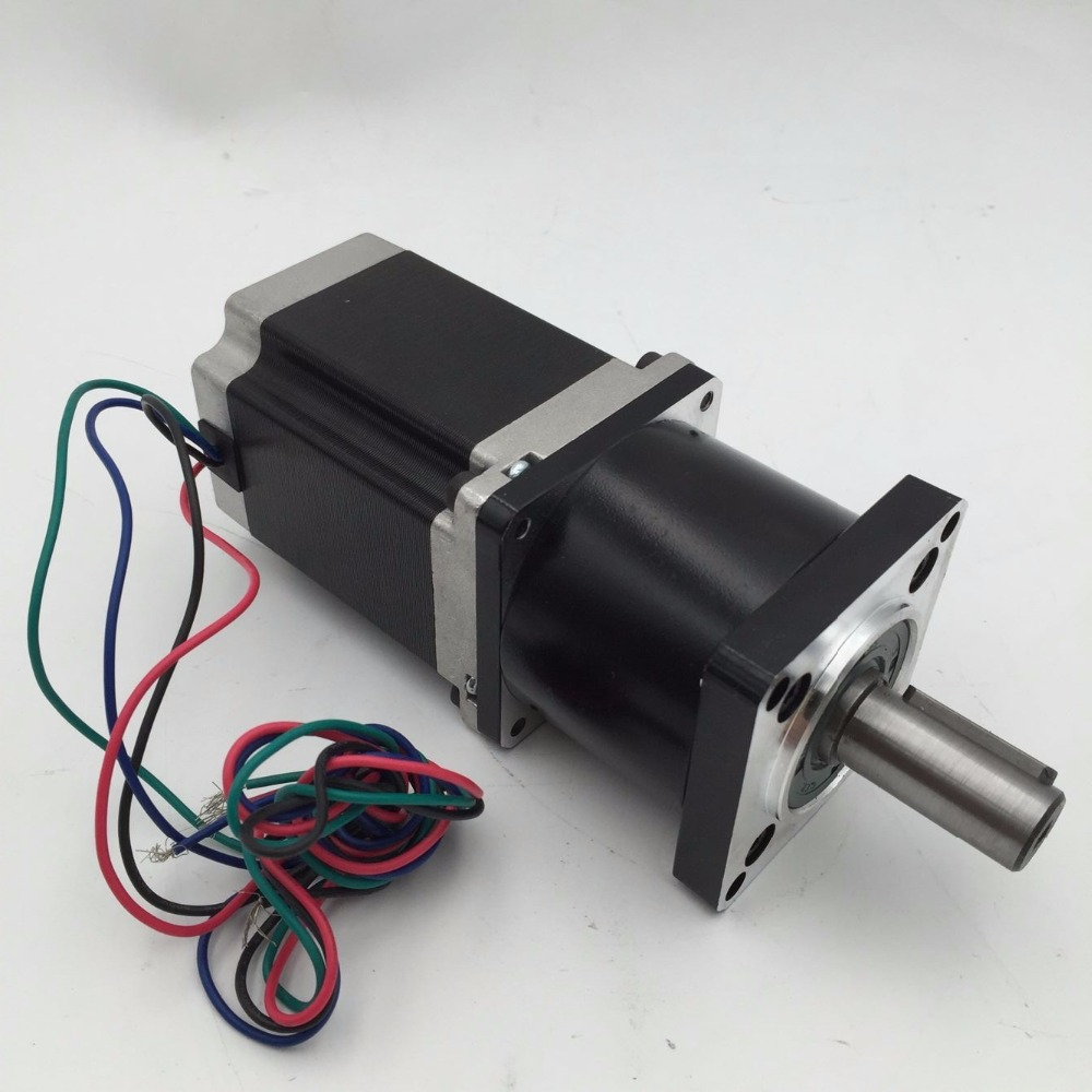 Planetary Nema23 Geared Stepper Motor L112mm Gearbox Ratio 30:1 90Nm Stepper Speed Reducer CNC Router Engraver planetary nema23 geared stepper motor l112mm gearbox ratio 30 1 90nm stepper speed reducer cnc router engraver