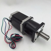 Planetary Nema23 Geared Stepper Motor L112mm Gearbox Ratio 30:1 90Nm Stepper Speed Reducer CNC Router Engraver