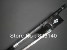 8 PCs Beautiful 4/4 Strong Carbon Fiber Bow with Flower inlay Ebony Frog White mogolia horse hair 2006#