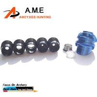 3 Colors Archery Compound Bow Peep Sight 37/45 Degree Aluminum Peep Black Versatible Peep Shooting Hunting Accessory