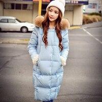 Dabuwawa светло голубой цвет oversize длинное пальто