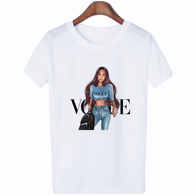 Thin Section Vogue Letter Female T-shirt Leisure Fashion Aesthetic 5