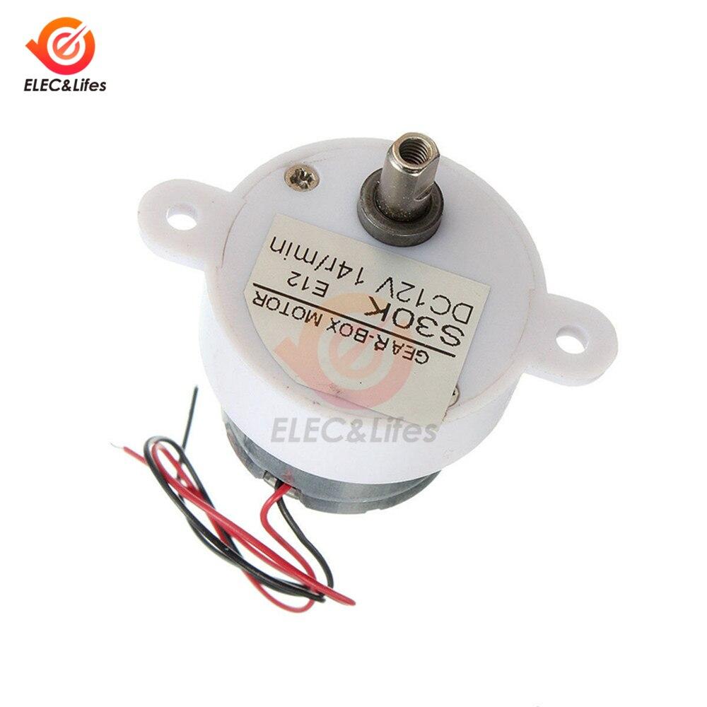 DC12V 2 Draht 14 RPM Getriebe Motor Hohe Drehmoment Elektrische Bürstenlosen DC Motor 14 RPM 12V für smart auto roboter elektrische spielzeug fan