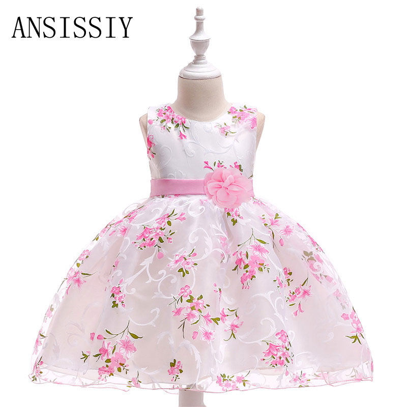 3-9year Summer Flowers Ruched Girls Dress Kids Clothing Princess Party Birthday Dovetail Dresses Sleeveless Kids Vestido Cloth a radiography case study
