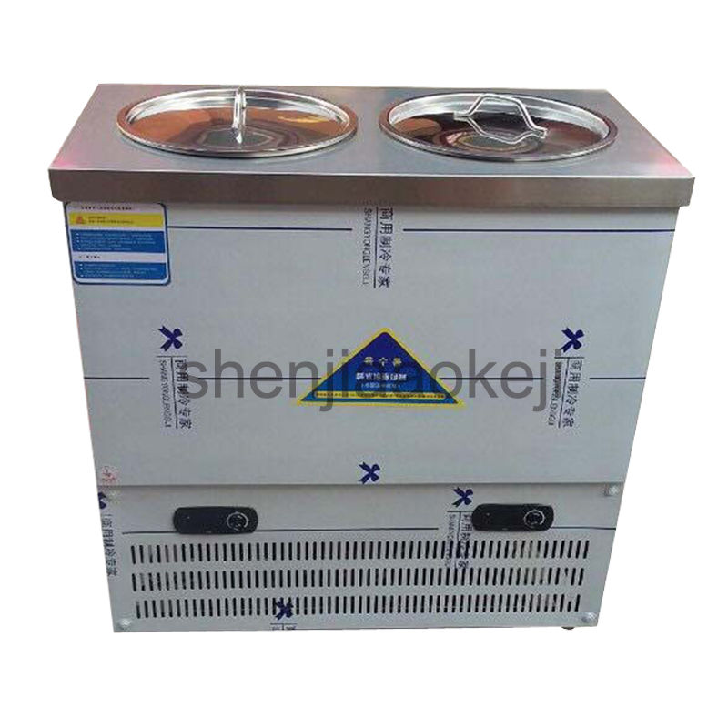 80L Capacity Stainless Steel Commercial Double Barrel Cold Noodle Machine Korean-type Cold Noodle Soup Refrigerating Machine
