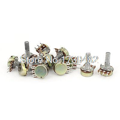 3 Sets 1K 2K 5K 10K OHM Linear Taper Rotary Potentiometer Pot 150w 5 ohm ceramic potentiometer variable linear pot resistor rheostat