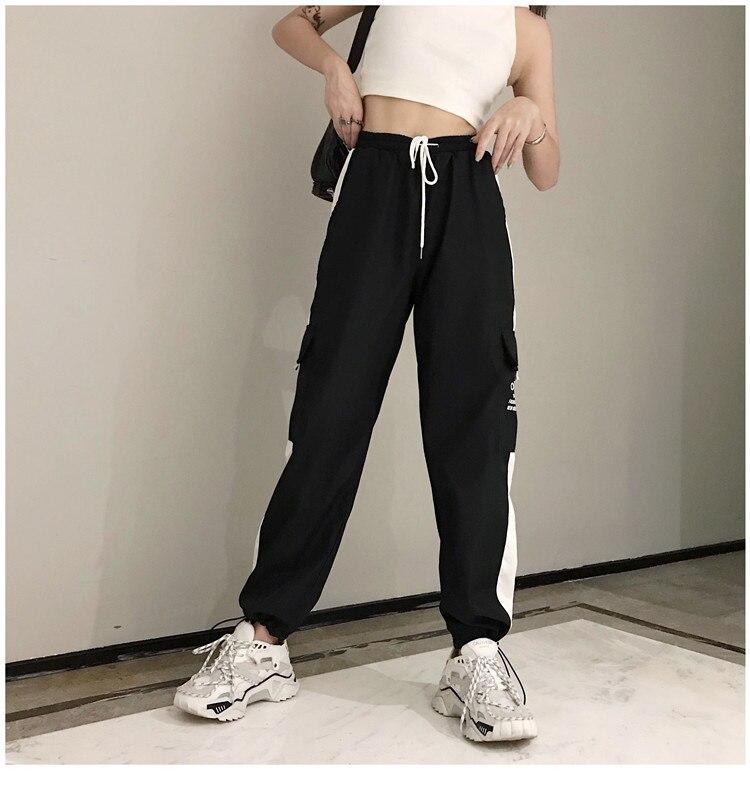 Largas Calças Tático hip hop Streetwear 2019 novas calças corredores
