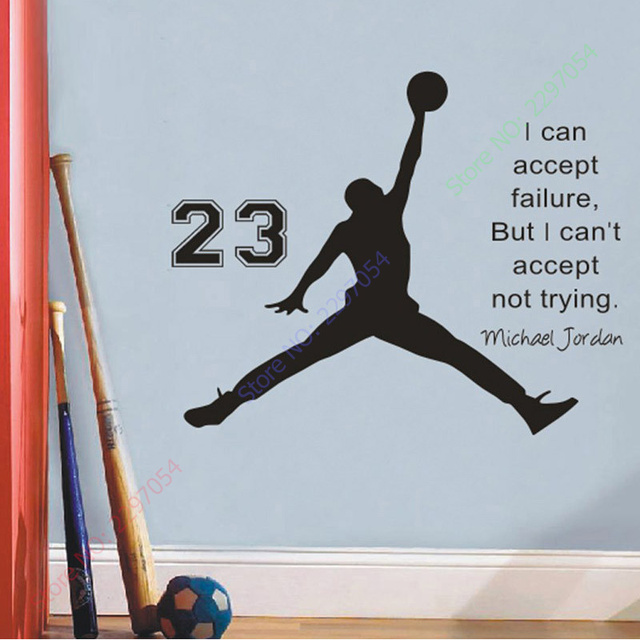 On Sale Michael Jordan Basketball Inspirational Wall Sticker Quotes Vinyl Wall Decals Wall Mural Art Kids  sc 1 st  AliExpress.com & On Sale Michael Jordan Basketball Inspirational Wall Sticker Quotes ...