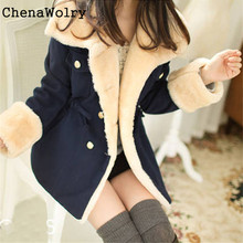 Winter Warm Casual 2017 Slim Fit Hot Sales Attractive Luxury Double Breasted Wool Blend Jacket Women