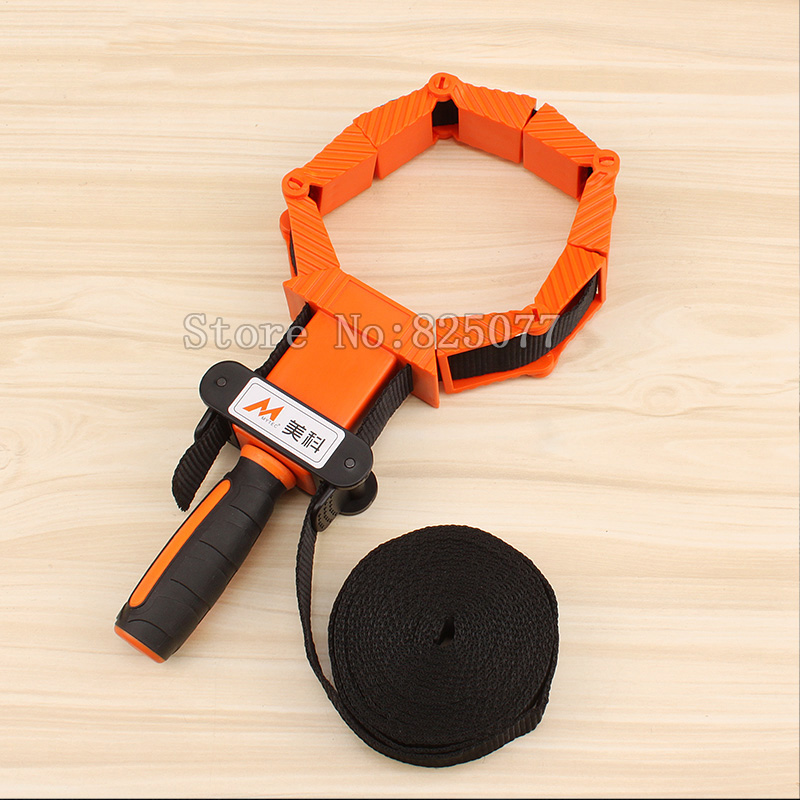 Woodworking Multifunction blet clamp Adjustable Band Clamp Polygonal clip 90 Degrees Right Angle Corner Photo Frame Clips JF1170 ninth world new single handlealuminum 90 degree right angle clamp angle clamp woodworking frame clip right angle folder tool