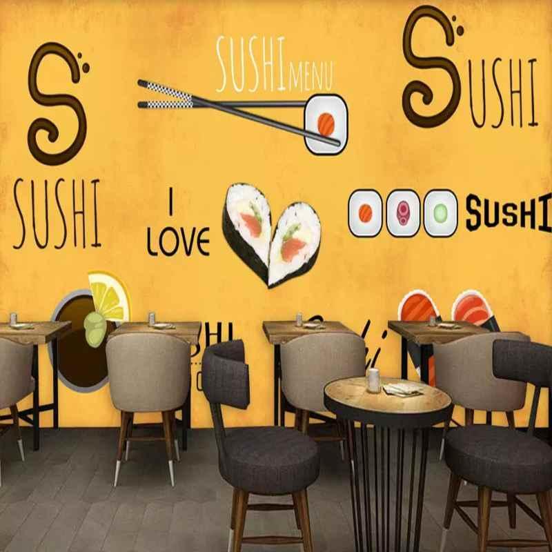 Японская ручная роспись обои Япония Lucky Cat Ukiyo-E Ресторан Суши Ресторан оснастка стены на заказ 3D росписи