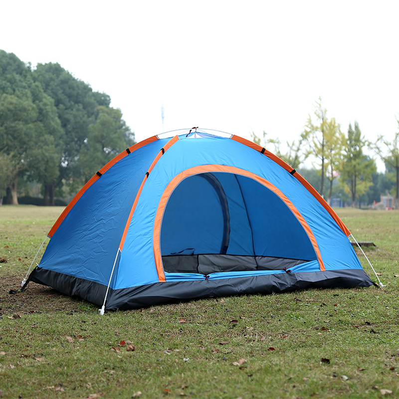 spring outdoor Camping Tent 4 Season 3-4 Person tents Professional camping tent automatic winter