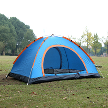 лучшая цена spring outdoor Camping Tent 4 Season 3-4 Person tents Professional camping tent automatic winter tents