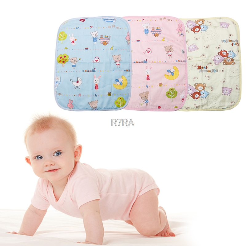 Owl Newborn Waterproof Breathable Bedding Nappy Changing Mat Reusable Soft Cotton Baby Infant Mattress Urine Diaper Pad Home Travel Use