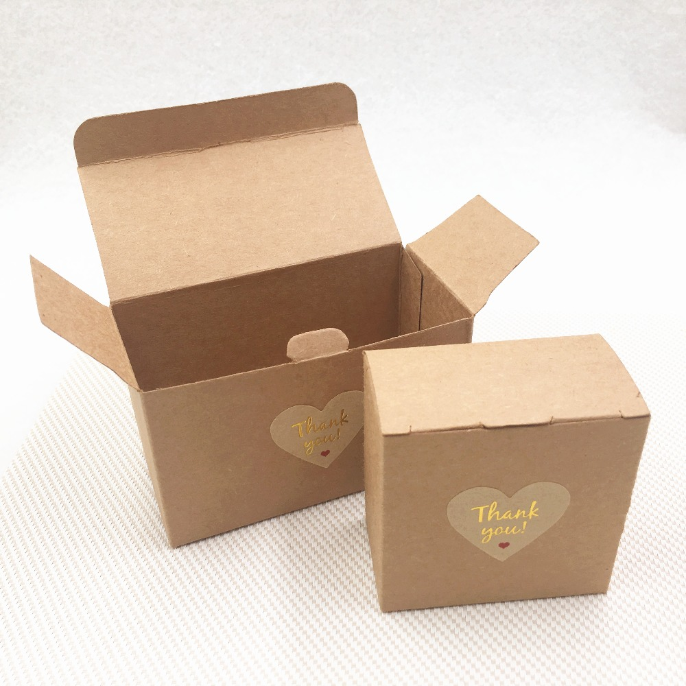 Home & Garden Festive & Party Supplies Open-Minded 20pcs/lot Lettering Gold Handmade With Love Heart Thank You Adhesive Sticker Paper Cardboard Box For Festival Gift Case Carton Non-Ironing
