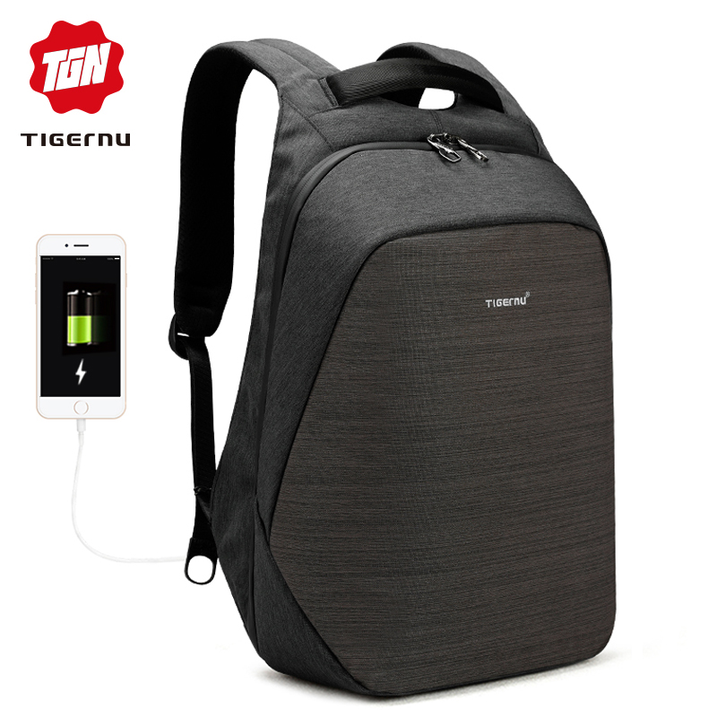 Tigernu защита от кражи рюкзак для ноутбука usb для зарядки 15,6 рюкзаки мужчин slim водонепроницаемая сумка рюкзак школы Женщины Мужчины mochila путешествия