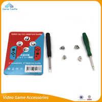 1 Juego de Kit de herramientas de reparación de hebillas de bloqueo de Metal para Nintendo Switch NS Joy Con piezas de repuesto de controlador NX Joy-Con destornilladores