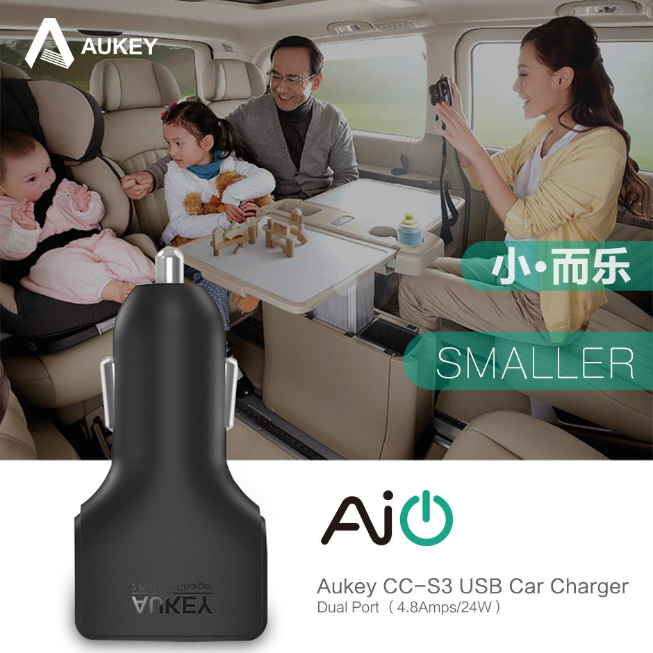 Aukey I6 Car Phone Charger For iPhone 5S 7 Plus (1)