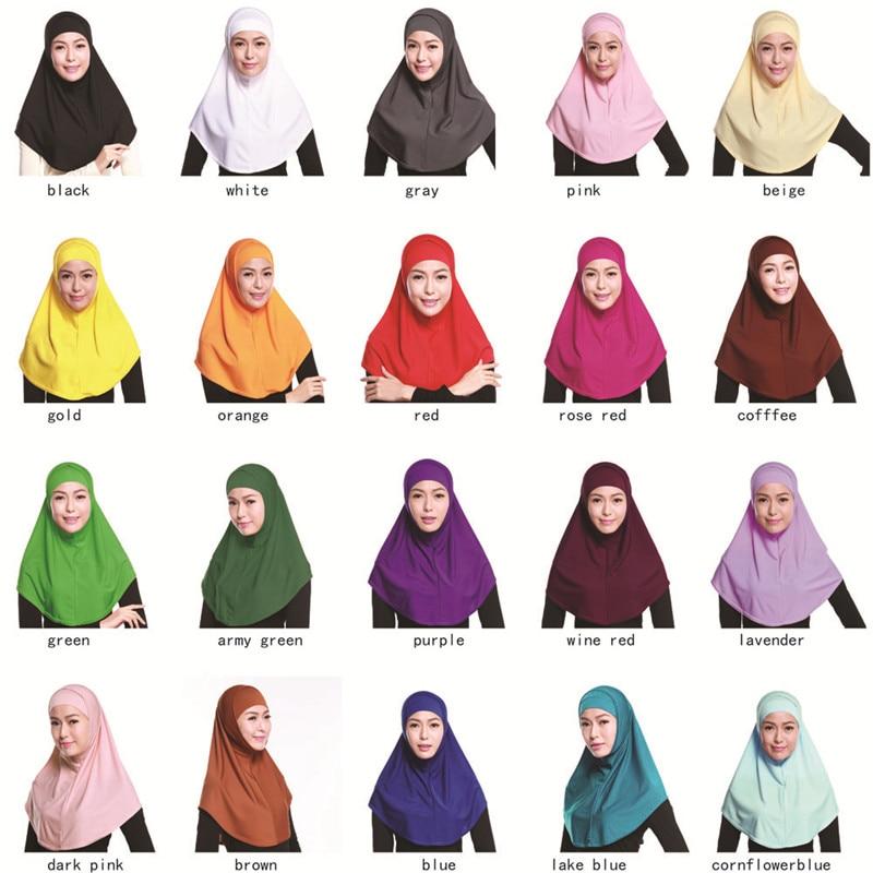 Muslim Two-piece Hijab Muslim Headscarf Islamic Turban Women Burqa Include HS102
