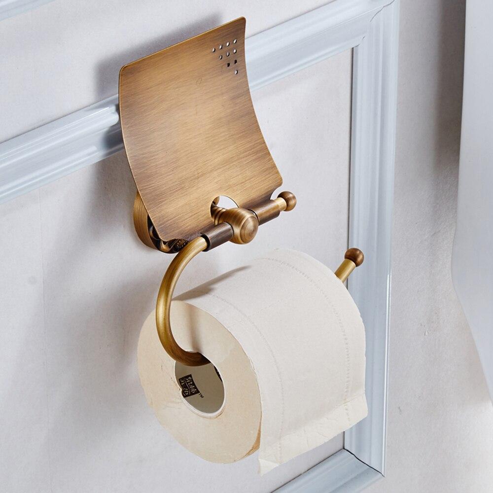 Vintage style australien brillant étain laiton toilette loo roll salle de bains WC titulaire