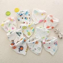 Muslin Newborn Baby Bibs Soft Feeding Towel Bib Bandana Baberos Burp Cloth Girls Boys Clothing Infant Saliva
