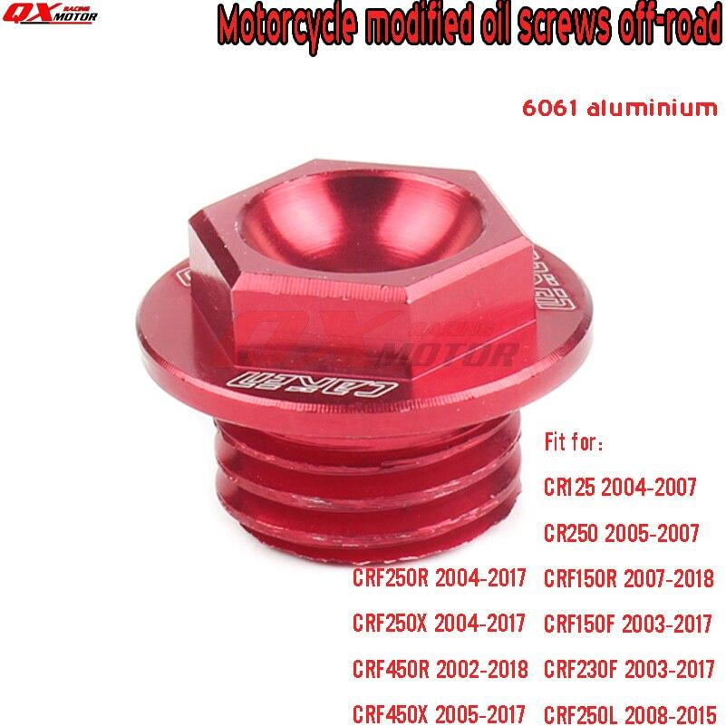 Red CNC Engine Oil Filler Cap Plug Fit HONDA CRF150R 2007-2017 07 08 09 10