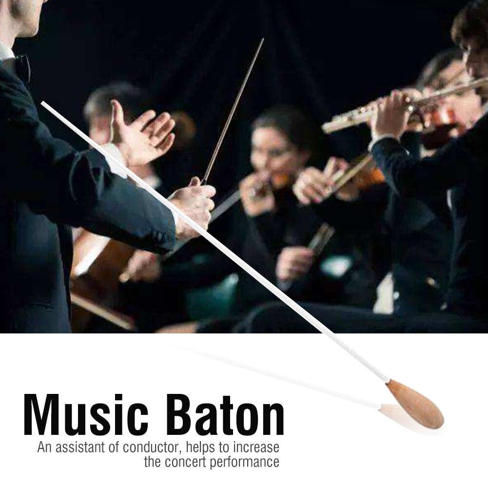 38cm Pearwood Handle Musical Baton Lightweight Band Conductor Chorus Symphony Concert Baton Concert Accessories Tool