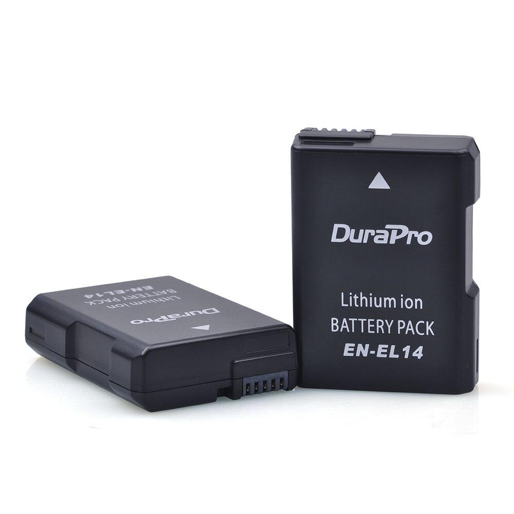 2 Pz EN-EL14 ENEL14 EN EL14 1200 mAh Batteria per Nikon D90 D300 D5300 D5200 D5100 D3300 D3200 D3100 per COOLPIX P7100 P7200 P7700