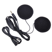 Motorcycle Bike Scooter Helmet Sports Stereo Headphones Headset For MP3 Phone Black