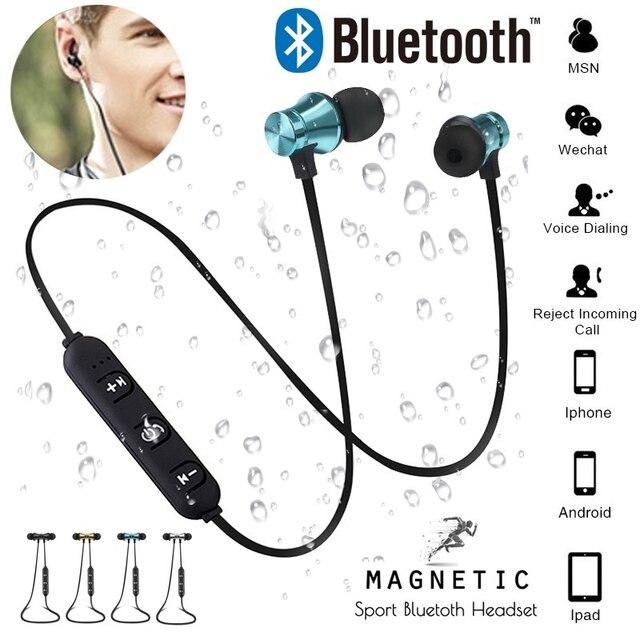 Attraction magnétique Bluetooth Écouteur Casque étanche sport 4.2 avec Câble de Recharge Young Écouteurs Construire-dans Mic