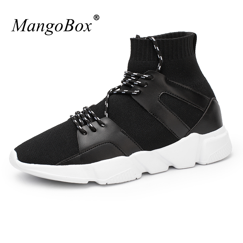 MangoBox Spring Summer Running Men Sneaker Lace Up Men Footwear Mens Breathable Sports Shoes for Men Trainers