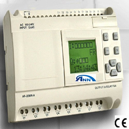 PLC  programmable controller  AF-20MR-D2+AF-HMI+AF-DUSB2 cable, With free software,low cost plc apb 22mrdl with lcd apb dusb cable programmable logic controller