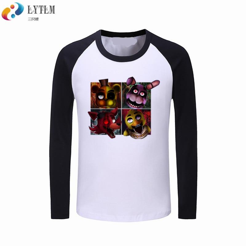 LYTLM Kids Clothes 2019 Boys Girls T Shirt 5 Nights at Freddy's T Shirts FNAF Boys Long Sleeve Tops vetement fille Girls Shirts