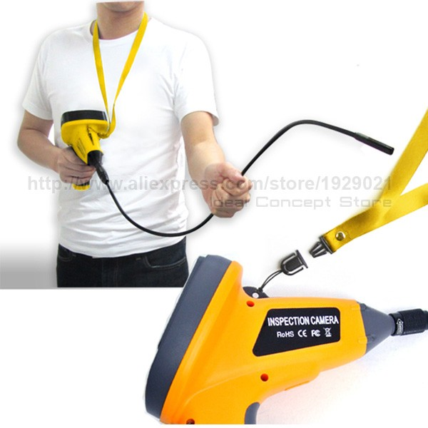 3.9mm Video Inspection Camera Industrial Borescope Pipe Car 3.5inch TFT LCD Endoscope 2LED Light 1M cable