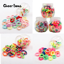 Candy Color Elastic Headband Handmade Craft Girls Hair Rope Ring Rubber Bands DIY Hair Accessories Material Gum for Kid 50pcs(China)