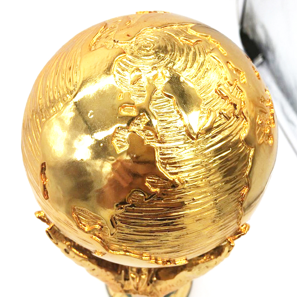 Football Gold Champion Trophy Titan Cup Award Globe Soccer Fans Souvenir Resin Craft Keepsake Trophies gift metal trophy with a crystal earth international competition award cup oscar trophy golden ball award