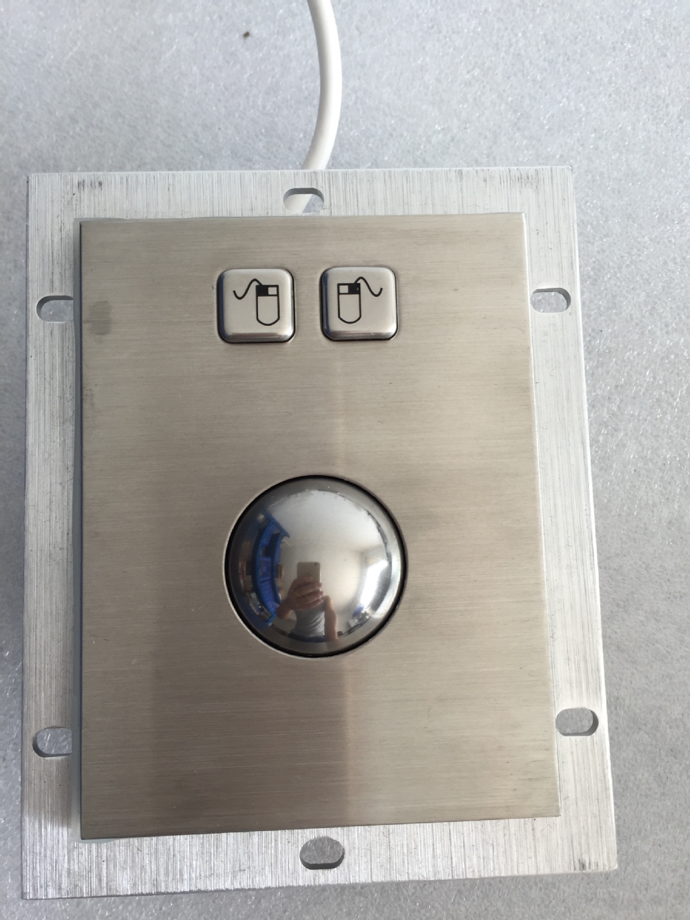 BIG SALE] Metal Trackball stainless steel trackball PC metal mouse