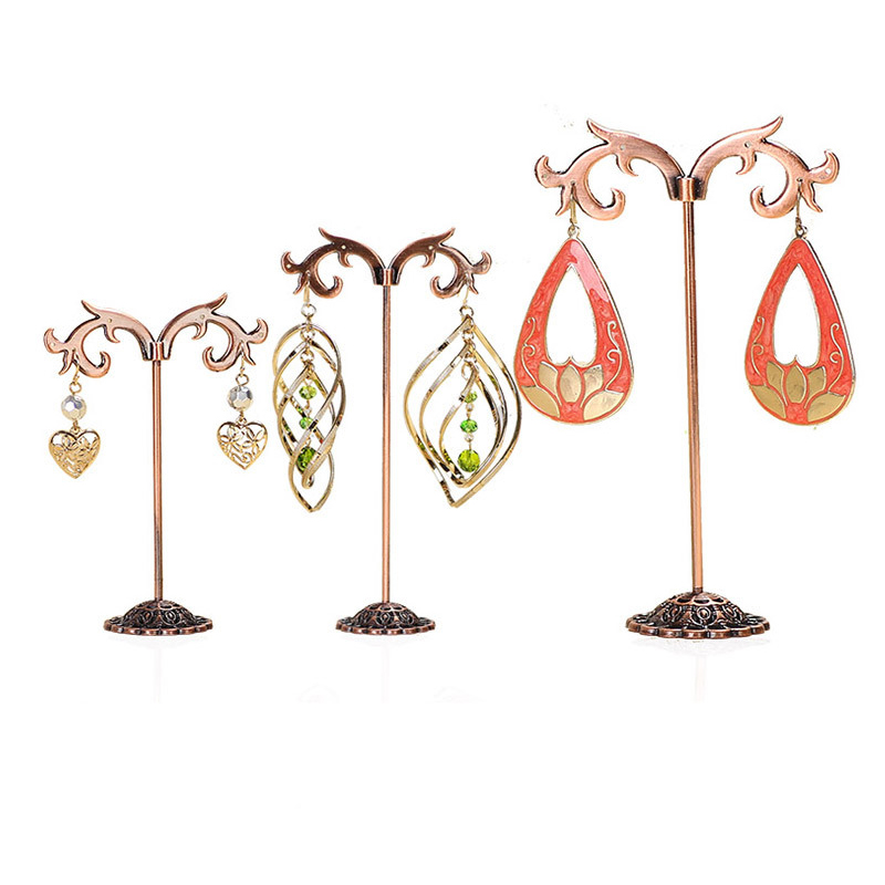 2018 Free Shipping Antique Brass Earring Tree Shaped Display Stand Holder,Fashion Jewelry Display,sold Per Packet Of 1 Set(3PCs)