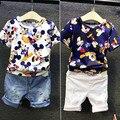 Los niños y niñas ll desgaste de los niños de manga corta chaqueta de la camisa t-shirt 2017 verano nueva corea 2-7 p a2