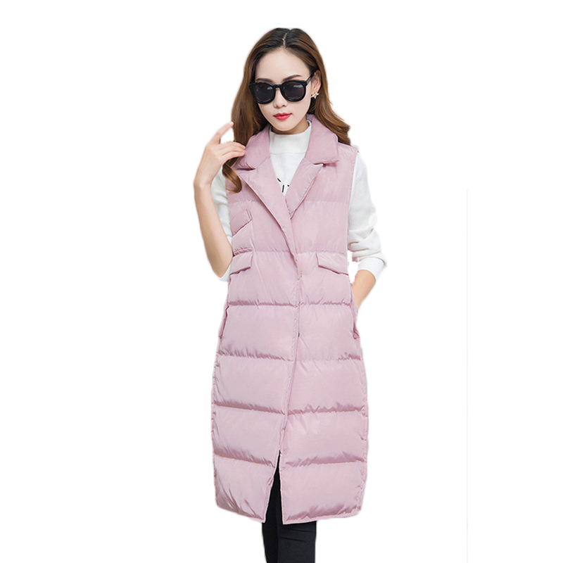 2018 new high quality Winter Coat Women Casual Waistcoat Female Sleeveless Cotton Vest Jacket Long Women Vest Down Coat protective housing side frame case for yi action sports camera