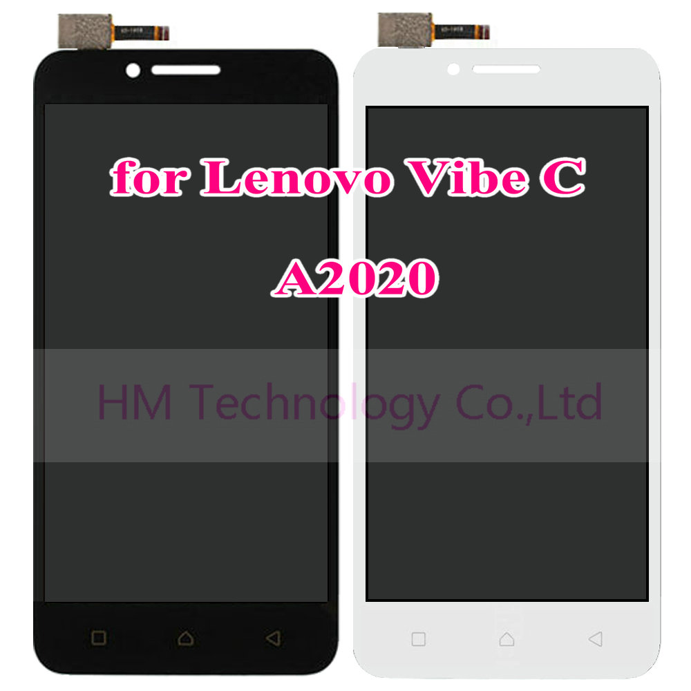 5 0 Black LCD TP for Lenovo Vibe C A2020 A2020a40 LCD Display Touch Screen Digitizer