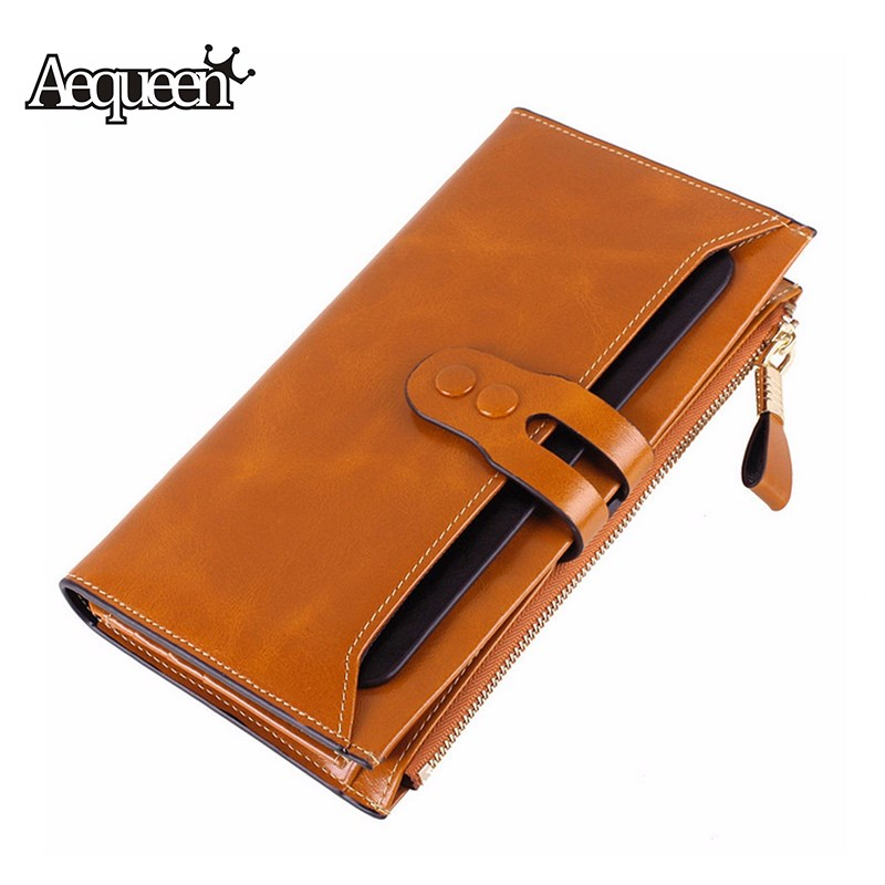 bolsa para senhoras bolsa da Wallet Estilo 1 : 100% Genuine Leather Wallet Womens Long Purses