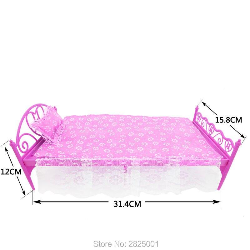Idee dressoir roze afbeeldingen : 3 Items/Lot = 1x Roze Mini Pop Bed + 1x mode Dressoir + 1x Familie ...