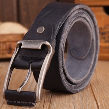 Luxury 100% Leather Pin Buckle Belt