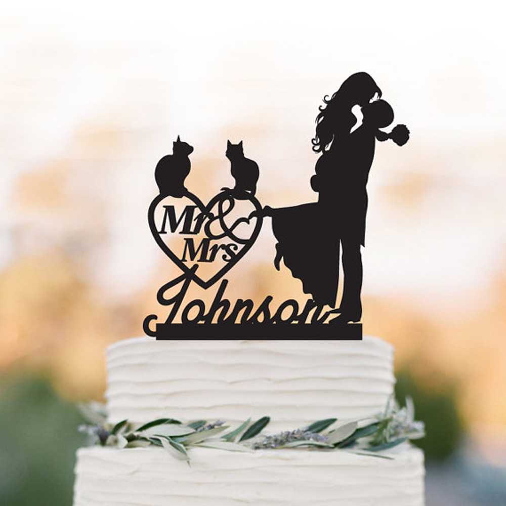 Cat Personalized Wedding Cake topper groom lifting bride with mr and mrs cake topper. custom wedding heart decor cake topper.Cat Personalized Wedding Cake topper groom lifting bride with mr and mrs cake topper. custom wedding heart decor cake topper.