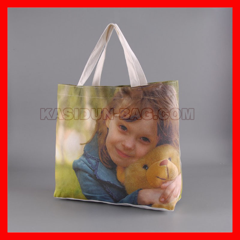 (200Pcs/Lot) Size 36X36x10cm Custom Logo Tote Bag Cotton