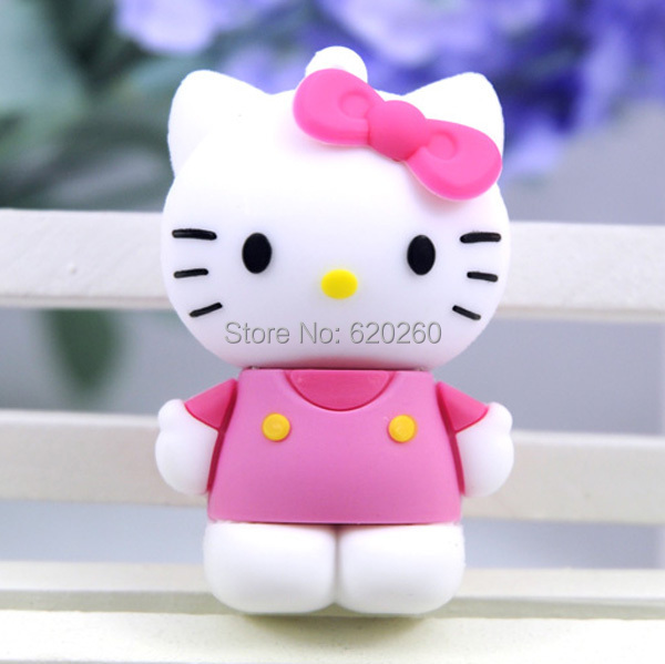 Free shipping! 4gb/8gb/16gb/32gb/64gb usb flash drive cartoon usb open drives cartoon cute kt cat hello kitty usb flash disk ...