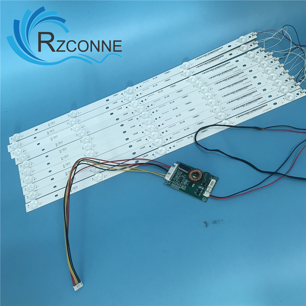10pcs 500mm LED Backlight Strip 5 Lamps Kit Board Fliter For 48 49 50 Inch  LCD LED TV  12V Input Billboard Update CCFL