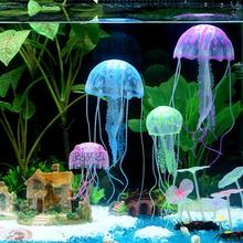 Glowing Effect Artificial Jellyfish Mini Submarine Ornament  Fish Tank Aquarium Decoration Underwater Pet Home Decor