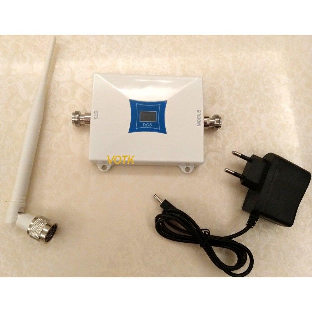 NOUVEAU VOTK téléphone portable 2G 4G LTE 1800 MHZ SIGNAL booster 4G répéteur de SIGNAL DCS amplificateur de SIGNAL AVEC antenne intérieure